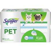 Swiffer Pet Heavy Duty Wet Mopping Cloths With Febreze Odor Defense