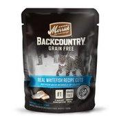 Merrick 24Pack 3oz Backcountry Grain Free Real Whitefish Recipe Cuts Wet Cat Food