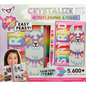 Fashion Angels Activity Journal & Pen Kit, Crystal Painting, 8+