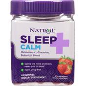 Natrol Sleep + Calm, Gummies, Strawberry