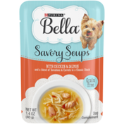 Purina Grain Free Small Breed Wet Dog Food Complement, Savory Soups With Chicken & Salmon