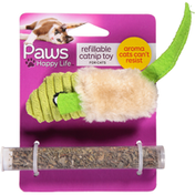 Paws Happy Life Catnip Toy, Refillable, For Cats