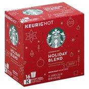 Starbucks Coffee, Ground, Medium Roast, Holiday Blend, K-Cup Pods