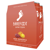 Barefoot Sangria Red Wine 4 Single Serve Cans