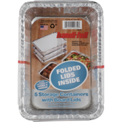 Handi-Foil Storage Containers With Board Lids - 5 CT