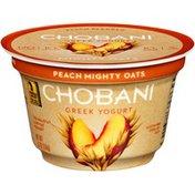 Chobani Mighty Oats Peach Blended Low-Fat Greek Yogurt