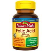 Nature Made Folic Acid 400 mcg (665 mcg DFE) Tablets