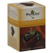 Mighty Leaf Chocolate Mint Truffle, Artisan Whole Leaf Pouches, Caffeine-Free
