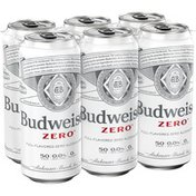 Budweiser Zero Full-Flavored Non Alcoholic Beer Cans