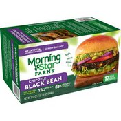 Morning Star Farms Veggie Burgers, Chipotle Black Bean, Vegan, Good Source of Protein