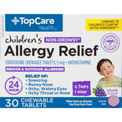 TopCare Allergy Relief, Chewable Tablets, Grape Flavor, Children's