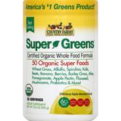 Country Farms Super Greens, Apple Banana Flavor