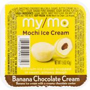 My/Mo Mochi Ice Cream, Banana Chocolate Cream