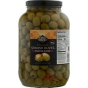 First Street Spanish Olives, Premium, Stuffed Queen