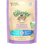 Feline Greenies Flavor Fusion Dental Ocean Fish Flavor & Tempting Tuna Flavor Cat Treats