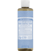 Dr. Bronner's Castile Soap, Pure, 18-In-1 Hemp, Baby, Unscented