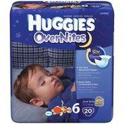 Huggies Overnites Size 6 Diapers