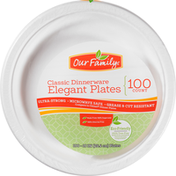 Our Family Plates, Elegant, Classic Dinnerware, 10 Inch