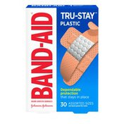 Band-Aid Brand Tru-Stay Plastic Strips Adhesive Bandages, Assorted