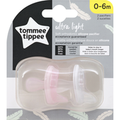 Tommee Tippee Pacifier, Silicone, Ultra Light, 0-6 Months