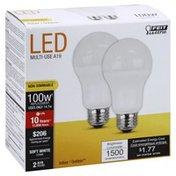 Feit Electric Light Bulbs, LED, Soft White, 14.7 watts, 2 Pack