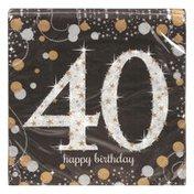 Amscan Beverage Napkins, Sparkling Celebration 40, 2-Ply