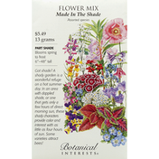 Botanical Interests Seeds, Flower Mix, Made In The Shade, Assorted Species