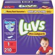 Luvs Ultra Leakguards Newborn Diapers Size 1