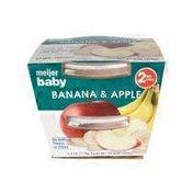 Meijer Baby Pureed Food, Banana & Apple