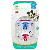 NUK Pacifier, Silicone, Disney Baby, 0-6 m