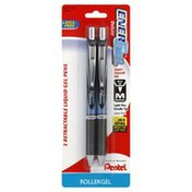 Pentel Liquid Gel Pens, Retractable, Medium, Black Ink
