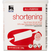 Food Lion Shortening, All-Purpose, Can