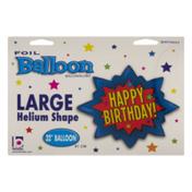 Betallic Large Helium Shape Balloon Happy Birthday!