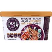 Acai Roots Sorbet, Organic, Acai + Peanut Butter, Premium