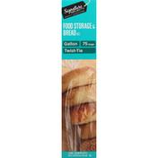Signature Home Food Storage & Bread Bags, Twist Tie