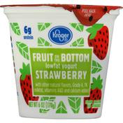 Kroger Yogurt, Lowfat, Strawberry, Fruit on the Bottom
