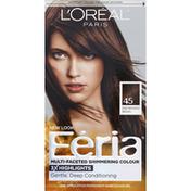 Feria Permanent Haircolour Gel, French Roast, Deep Bronzed Brown 45