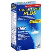 Alka-Seltzer Cold Formula, Effervescent Tablets, Sparkling Original