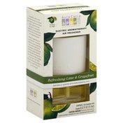 Aura Cacia Air Freshener, Electric, Refreshing Lime & Grapefruit