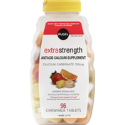 Publix Antacid Calcium Supplement, Extra Strength, 750 mg, Chewable Tablets, Assorted Tropical Fruit