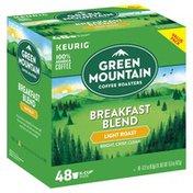 Green Mountain Coffee, 100% Arabica, Light Roast, Breakfast Blend, K-Cup Pods, Value Pack