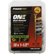 Power Pro Screws, Multi-Material, Exterior, 1-1/2 Inch
