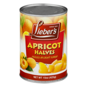 Lieber's Apricot Halves Peeled in Light Syrup