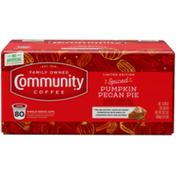 Community Coffee Spiced Pumpkin Pecan Pie Coffee Pods for Keurig K-cups
