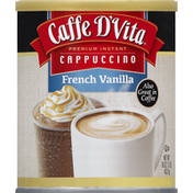 Caffe D'Vita Cappuccino, Premium Instant, French Vanilla