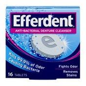 Efferdent Anti-Bacterial Denture Cleanser Tablets - 16 CT