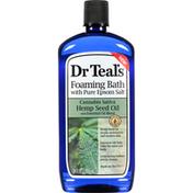 Dr. Teal's Foaming Bath, with Pure Epsom Salt, Cannabis Sativa Hemp Seed Oil