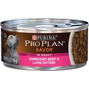 Purina Pro Plan Savor Adult Shredded Beef & Lamb Entree In Gravy Dog Food