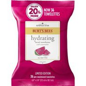 Burt's Bees Hydrating Facial Towelettes With Watermelon