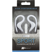 MobilEssentials Sport Earbuds with Mic